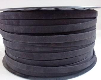Handmade black strip portuguese,cork strip 10mm(1meter)