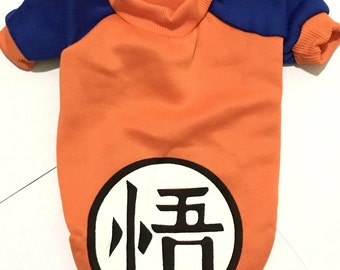 Dog Clothes - Goku Design Dog Sweater, High Quality Soft Cotton Pet Clothes