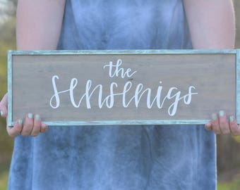 Custom Name Wooden Sign