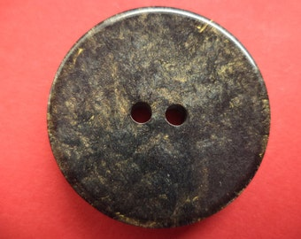 8 large buttons 28mm black gold (3948) coat buttons jacket buttons button
