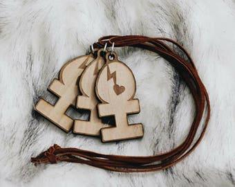 Dirty X Heart - Fan designed necklace