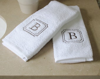 100 % USA Grown | 2 Piece Hand Towel Set | Monogram Towels | Personalized Orders | Gift Ideas | Decorative | Luxury Towels | Soft & Durable