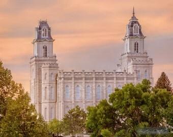 Manti Utah LDS Temple Photography Print