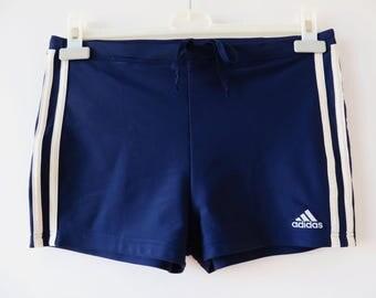 Adidas Swim Trunks Navy Blue Swimtrunks Men Swimwear Beach Swim Trunks Athletic Swimsuit Adidas Beach Wear Swim Shorts Swimming Trunks Small