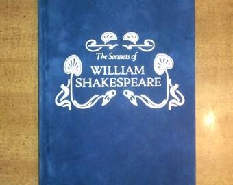 1961 Blue Suede Bound William Shakespeare The Sonnets of William Shakespeare Vintage Book