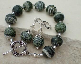 Jasper Beaded Gemstone Bracelet Set