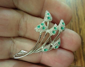VINTAGE amazing flower Brooch/P1