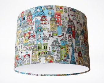 Mon Amie  Drum Lampshade // Handmade Drum Lampshade // Novelty Lampshade // Pattern Lampshades // Bespoke Lampshades