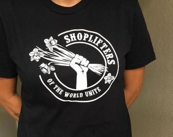 Shoplifters of the world unite Morrissey The smiths tshirt britpop