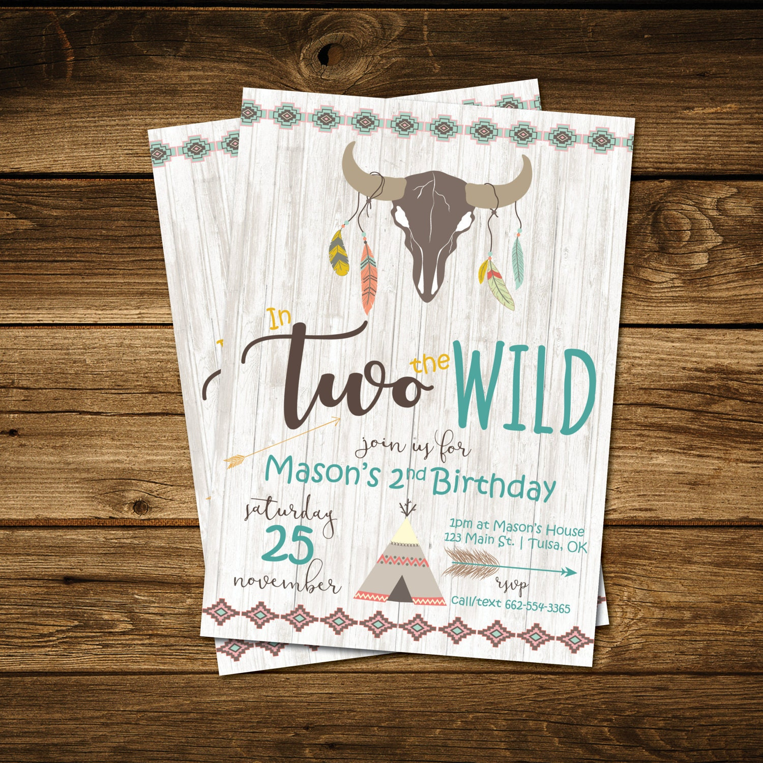 In TWO The Wild Birthday Invitation