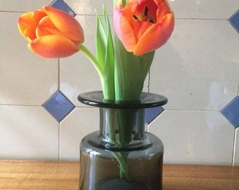 Vase glass Danish style * like Holmegård *.