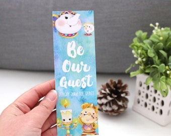 Be Our Guest Bookmark - Beast and Beauty