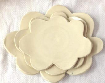 Nesting Cloud Dishes - Ceramic Nesting Dishes - Pottery Nesting Dishes - Clouds