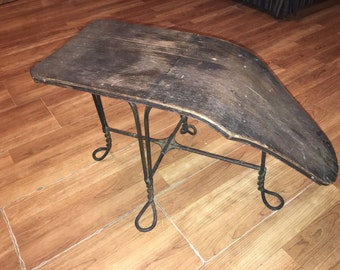 vintage shoe store fitting stool