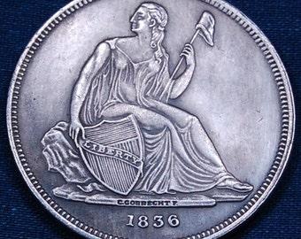 REPLICA / COPY 1836 Seated Dollar