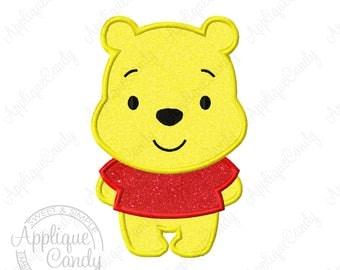 Pooh Cutie Applique Machine Embroidery Design 4x4 5x7 Bear piglet INSTANT DOWNLOAD