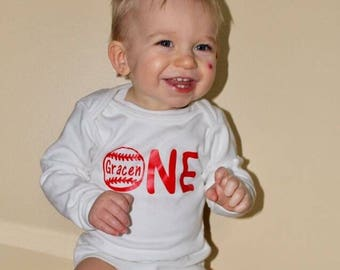 First birthday boy, first birthday baseball shirt, first birthday baseball, first birthday shirt, personalized birthday shirt, one shirt