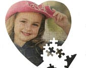 Personalised Cardboard Heart Jigsaw Puzzle Educational Gift Photo Gift Stocking Filler Childs Party Gift Collage Jigsaw