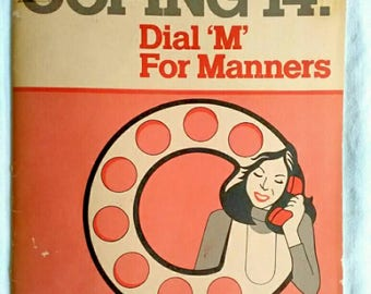 Dial 'M' for Manners Vintage Telephone Guide, 1982 How to Use the Telephone Book