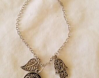 Taurus zodiac charm bracelet