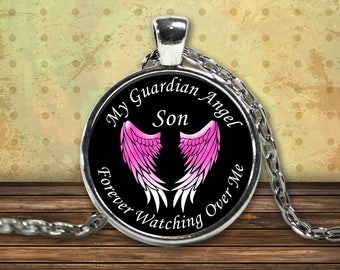 Son Guardian Angel Necklace | Angel Wings | Angel Gift | Angel Memorial | Angel Wing Necklace | Memory Necklace | Angel Pendant | Angel Gift