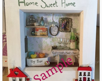 Home sweet home deep box frame gift