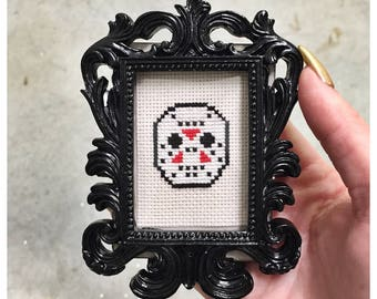 Jason Voorhees Friday the 13th cross stitch