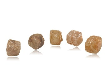 7.50-7.80 Cts Cube-Shaped Pink - Red - Orange Hues - A Collectors Dream ( 5 pcs ) Loose Rough Diamonds-371604