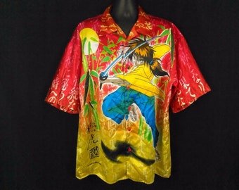 Rurouni Kenshin Samurai Anime Comicon Zam Collection Casual Shirt sz. 2XL