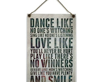 Dance Like No One's Watching Fun Gift Handmade Wooden Home Sign/Plaque 397