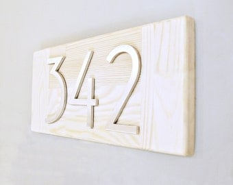 Address Plaque Modern House Number Plaque  Horizontal Address Sign