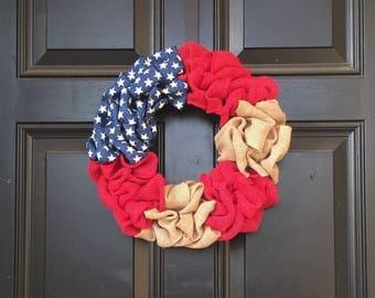 Patriotic/American Flag Wreath