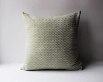 Forest Green Herringbone Linen Pillow,  Linen Pillow Cover, Natural Linen Pillow, Green Pillow, Green Linen Pillows, Herringbone Pillow