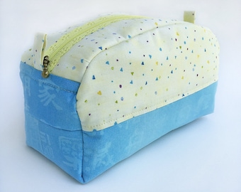 Cosmetic Bag - Notions Bag - Cosmetics Bag - Makeup Bag - Toiletry Bag - Travel Bag - Zipper Bag - Box Bag - Toiletries Bag - Make Up Bag