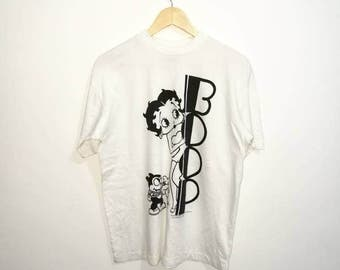 On Sale!! Vintage 90's Betty Boop Shirt Hip Hop Style Celebrity Fashion
