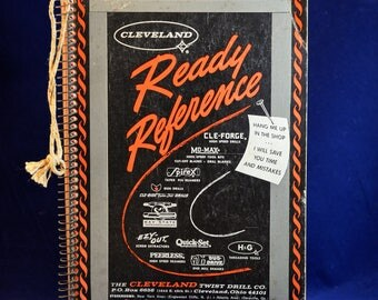 Vintage Cleveland Twist Drill Company 1964 Ready Reference Guide Instruction Book, Reference Guide, Reference Book, Tool Reference