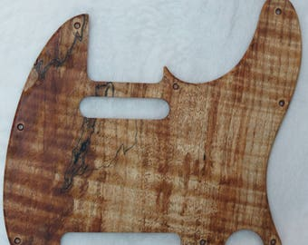 Spalted Maple Solid Wood Telecaster Style Pickguard #444