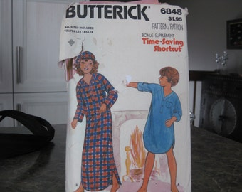 Pattern Butterick 6848 Nightgown and Cap