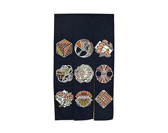 Made in Japan Cotton Cloth Noren Tapestry Iwai(Celebrate)