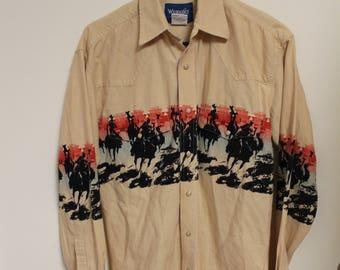 Vintage Wrangler Western shirt // Wrangler Western shirt // Wrangler shirt // Vintage Western Shirt // Western Shirt // Vintage Wrangler //