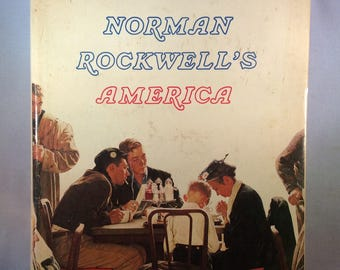 Reader's Digest: Norman Rockwell's America - Vintage Coffee Table Book (1976)