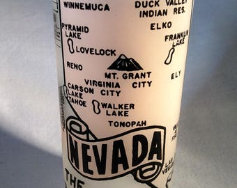 Vintage 1950's Frosted Nevada State Souvenir Tumbler
