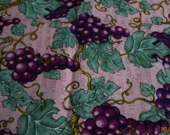 Grape Vine printed fabric