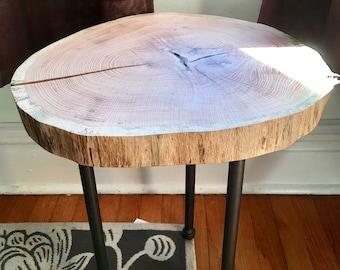 Tree Stump End Table
