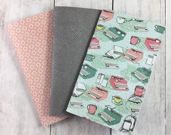 "3""x5"" Notebook, Blank Paper Notebook,  Set of Notebooks, Mini Notebooks, Mini Journal, Journal Set, Notebook Set 3x5114"
