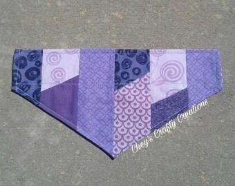 Dog Bandana-Purple Patchwork (S)
