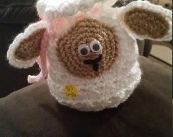 Crocheted clutch - small - lamb