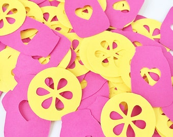 Pink Lemonade Confetti - Lemonade Party Confetti - Mason Jar Confetti - Summer Confetti - Pink Lemonade Party Decor