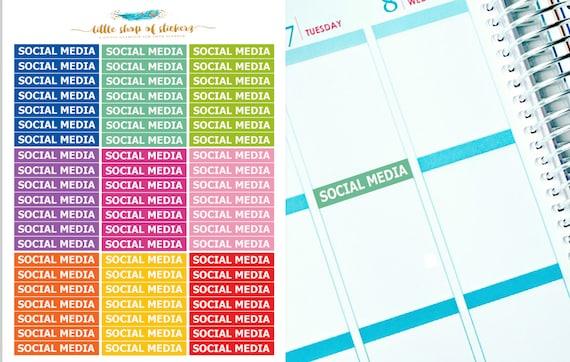 Social Media Headers || Functional Stickers, Social Headers, Stickers For Planner, Planner Stickers, Social Media Stickers, Header Stickers
