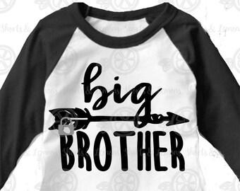 Big Brother svg, brothers svg, boys svg, arrow svg, big brother, little brother also available, brother SVG, DXF, EPS, sibling shirts